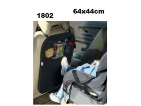 Предпазител за седалка черен 64х44 см