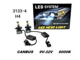 H4 Led system cambos 55W 12-24W / Х4 Лед Система 55 вата 12-24 волта - камбос