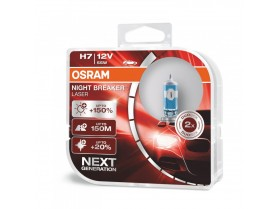 H7 Osram 12V 55W Night Breaker Lasere +150% / Крушки Осрам лазер Х7 55вата +150%