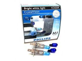 H1 Philips 55W 12V 4300K Cryastal / Крушки Филипс кристал Х1 и В5В 4300К