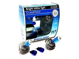 H7 Philips 55W 12V 4300K Cryastal / Крушки Филипс кристал Х7 и В5В 4300К