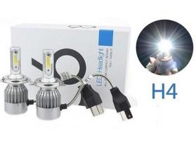 H4 C6 LED 3800 LM / Лед крушка Х4 Ц6 12-24 Волта 36 Вата 3800 ЛМ