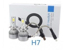 H7 C6 LED 3800 LM / Лед крушка Х7 Ц6 12-24 Волта 36 Вата 3800 ЛМ