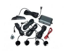 Парктроник Черен / 4-сензорна система за паркиране с цифров дисплей