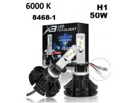 H1 X3 LED / Лед крушка Х1 Х3 12-24 Волта 50 Вата