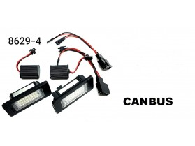 Audi A4 B8 / Лед плафони за регистрационен номер за Ауди А4 Б8