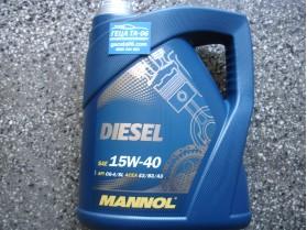 Mannol 15W40 diesel 5 л / Масло Манол Дизел 15В40 5л