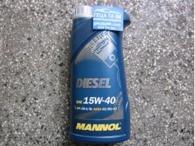 Mannol 15W40 diesel 1л / Масло Манол Дизел 15В40 1л