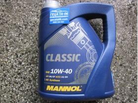 Mannol 10W40 Classic 4л / Масло Манол Класик 10В40 4л